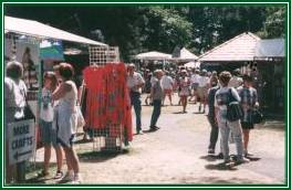 arts and crafts exhibtors at the Filberg Festival, Comox BC