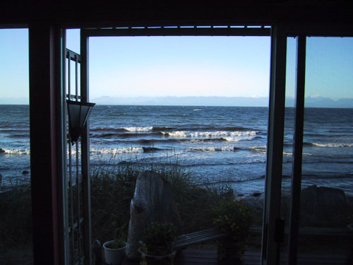 ocean view from sunroom