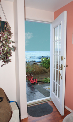 Ocean view vacation rental accommodations Comox BC