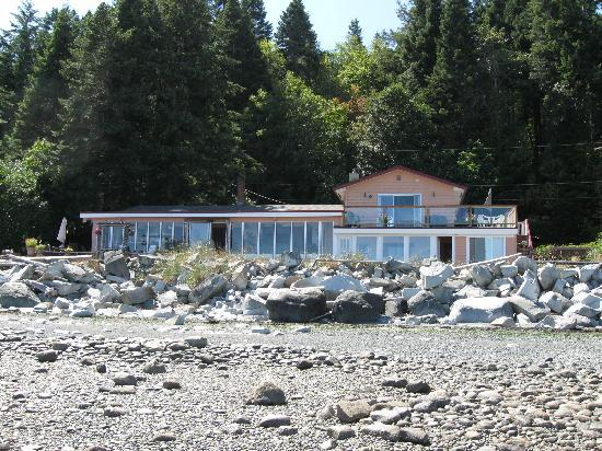 view of B&B from beach