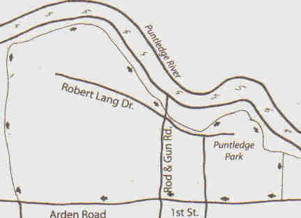 Map of Punledge Park Greenway