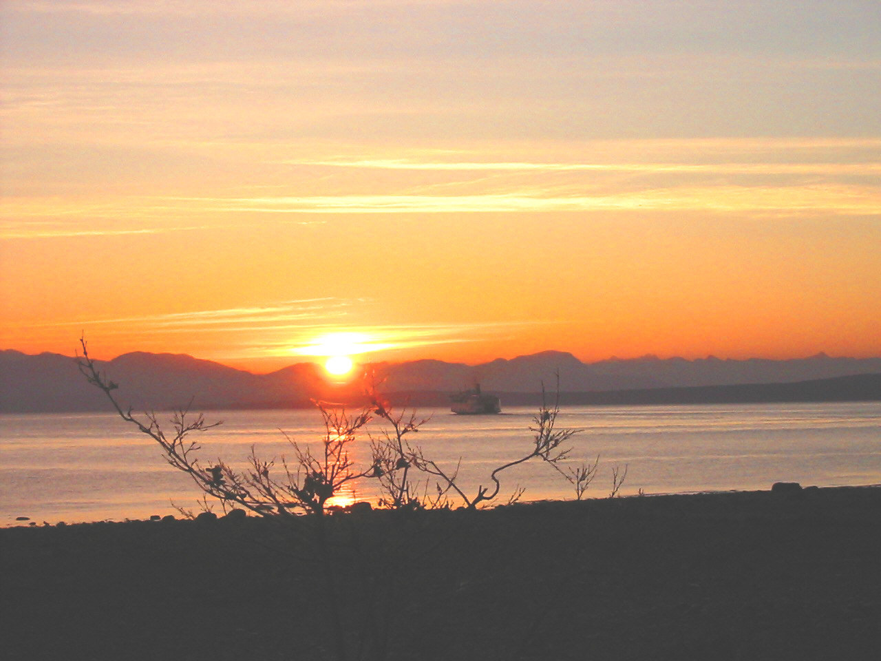 sunrise view of BC Mainland
