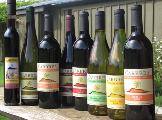 Hornby Island wines